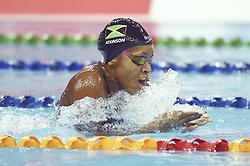 BEIJING, Nov. 11, 2017  Alia Atkinson of Jamaica competes during the women's 200m breaststroke final at the FINA Swimming World Cup Beijing in Beijing, China, Nov. 11, 2017. Alia Atkinson claimed the title of the event in 2 minutes and 19.58 seconds. (Credit Image: © Ju Huanzong/Xinhua via ZUMA Wire)