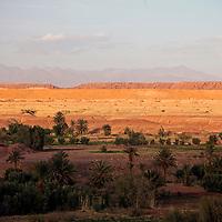 Africa, Morocco, Ouarzazate. Sunset view of Ouarzazate region.