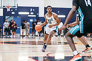 THOUSAND OAKS, CA Sunday, August 12, 2018 - Nike Basketball Academy. Cassius Stanley 2019 #15 of Sierra Canyon HS dribbles. <br /> NOTE TO USER: Mandatory Copyright Notice: Photo by John Lopez / Nike