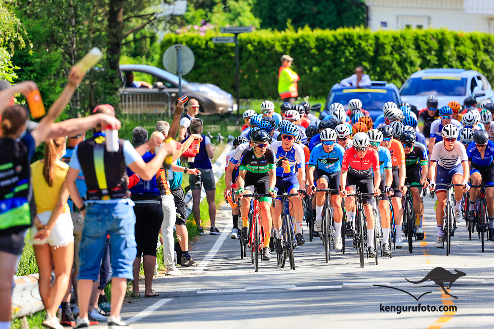 Vennesla 20210613. <br /> Fra langesonen under landevei fellesstart U23 for herrer under sykkel-NM 2021 i Vennesla.<br /> Foto: Tor Erik Schrøder / NTB
