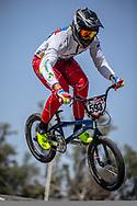 #593 (CAMPO Alfredo) ECU at round 8 of the 2018 UCI BMX Supercross World Cup in Santiago del Estero, Argentina.