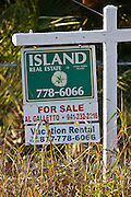 For Sale real estate sign Anna Maria Island, Florida, United States of America