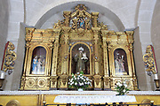 Altar in church hermitage of San Antonio, in medieval old town, Caceres, Extremadura, Spain