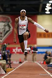 2020 USATF Indoor Championship<br /> Albuquerque, NM 2020-02-15<br /> photo credit: © 2020 Kevin Morris<br /> mens triple jump, adidas