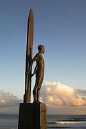 Surf statue, Santa Cruz, California