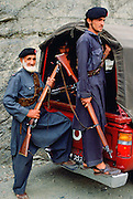 Khyber Rifles security force in the Khyber Pass in Pakistan