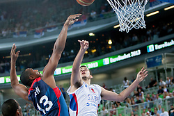 Boris Diaw #13 of France vs Nemanja Bjelica #8 of Serbia  during basketball match between National teams of France and Serbia in 2nd Round at Day 12 of Eurobasket 2013 on September 14, 2013 in SRC Stozice, Ljubljana, Slovenia. (Photo By Urban Urbanc / Sportida)