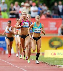 31.05.2015, Moeslestadion, Goetzis, AUT, 41. Hypo Meeting 2015, Siebenkampf der Frauen, 800 m, im Bild Yana Maksimava (BLR) // Yana Maksimava of Byelorussia und Ida Marcussen (NOR) // Ida Marcussen of Norway during the 41. Hypo Meeting Goetzis 2015, Women' s Heptathlon, 800 meters, at the Moeslestadion, Goetzis, Austria on 2015/05/31. EXPA Pictures © 2015, PhotoCredit: EXPA/ Peter Rinderer