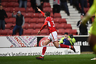Goal - Matt Taylor (31) of Swindon Town celebrates scoring a goal to make the score 2-1 during the EFL Sky Bet League 2 match between Swindon Town and Yeovil Town at the County Ground, Swindon, England on 10 April 2018. Picture by Graham Hunt.
