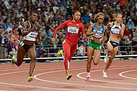 LONDON OLYMPIC GAMES 2012 - OLYMPIC STADIUM , LONDON (ENG) - 07/08/2012 - PHOTO : JULIEN CROSNIER / KMSP / DPPI<br /> ATHLETICS - WOMEN'S 200M - ALLYSON FELIX (USA)