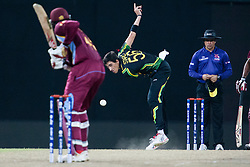 © Licensed to London News Pictures. 05/10/2012. Australian Mitchell Starc bowling during the World T20 Cricket Mens Semi Final match between Australia Vs West Indies at the R Premadasa International Cricket Stadium, Colombo. Photo credit : Asanka Brendon Ratnayake/LNP