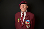 Mcc0061427 . Daily Telegraph<br /> <br /> Telegraph Magazine<br /> <br /> D Day Veterans<br /> <br /> Geoffrey Pattinson 8 Para<br /> <br /> London 8 April 2015