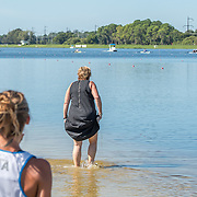 Vikki MacLean jumped in to help .<br /> <br /> Compete at the FISA U23 Worlds on Sunday 28 July 2019 at Nathan Benderson Park, Sarasota, Florida, USA © Copyright photo Steve McArthur / www.photosport.nz