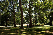 Scene in St James' Park in central London. One of the Royal parks, located running between The Mall and Birdcage Walk.
