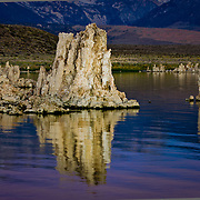Spectacular Mono Lake in the shadow of the Eastern Sierras.