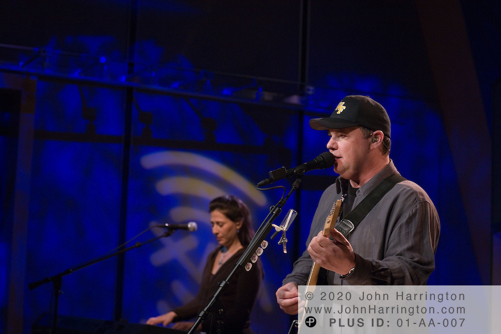 """Singer and songwriter Christopher Cross performs at XM radio on Tuesday December 13, 2005.  The performance was part of XM's """"Artist Confidential"""" series."""