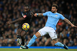 West Ham United's Michail Antonio (left) and Manchester City's Kyle Walker battle for the ball