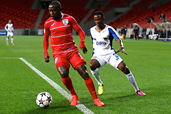 Katlego Mashego of Free State Stars (L) and Thembinkosi Lorch of Chippa United during the 2016 Premier Soccer League match between Chippa United and Free State Stars held at the Nelson Mandela Bay Stadium in Port Elizabeth, South Africa on the 23rd August 2016<br /><br />Photo by:   Richard Huggard / Real Time Images