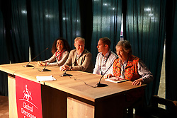 Ferrer Salat Beatrice, (ESP), Dr Bechtolsheimer, Lorriston Clarck Jenny, (GBR), Tucker Tristan, (AUS)<br /> Panel discussion<br /> Global Dressage Forum<br /> Academy Bartels - Hooge Mierden 2015<br /> © Hippo Foto - Dirk Caremans<br /> 26/10/15