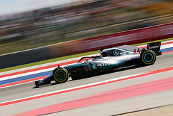 October 21, 2018 - Austin, TX, U.S. - AUSTIN, TX - OCTOBER 21: Mercedes driver Lewis Hamilton (44) of Great Britain races through turn 4 during the F1 United States Grand Prix on October 21, 2018, at Circuit of the Americas in Austin, TX. (Photo by John Crouch/Icon Sportswire) (Credit Image: © John Crouch/Icon SMI via ZUMA Press)