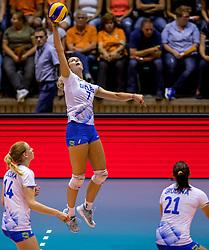 23-08-2017 NED: World Qualifications Greece - Slovenia, Rotterdam<br /> SloveniÎ wint met 3-0 / Urska Iglicar #7 of Slovenia<br /> Photo by Ronald Hoogendoorn / Sportida
