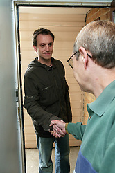 Tenancy Support Worker visiting resident,