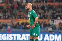 October 14, 2017 - Rome, Italy - Jose Manuel Reina during the Italian Serie A football match between A.S. Roma and S.S.C. Napoli at the Olympic Stadium in Rome, on october 14, 2017. (Credit Image: © Silvia Lor/Pacific Press via ZUMA Wire)