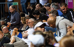 PORTOROZ, SLOVENIA - SEPTEMBER 17:  Supporters watching  Kaja Juvan of Slovenia playing against Tamara Zidansek of Slovenia at quarterfinal match of the WTA 250 Zavarovalnica Sava Portoroz at SRC Marina, on September 17, 2021 in Portoroz / Portorose, Slovenia. Photo by Vid Ponikvar / Sportida
