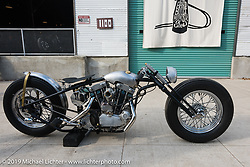 The Iron Panther by Bowman Motorcycles Frankie Bowman (St. Petersburg, FL) custom Harley-Davidson Ironhead Sportster on Sunday after the Handbuilt Motorcycle Show. Austin, TX. April 12, 2015.  Photography ©2015 Michael Lichter.
