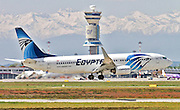 Egyptair Boeing 737 Next Gen at Milan - Malpensa (MXP / LIMC) Italy