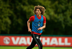 CARDIFF, WALES - Tuesday, August 29, 2017: Wales' Ethan Ampadu during a training session at the Vale Resort ahead of the 2018 FIFA World Cup Qualifying Group D match against Austria. (Pic by David Rawcliffe/Propaganda)
