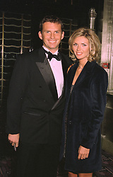 MR JUSTIN BELL son of Derek Bell the racing driver and his fiance MISS SARAH McNEILL, at a dinner in London on 31st October 1997.MCR 15
