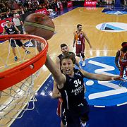 Anadolu Efes's Zoran Planinic (F) during their BEKO Basketball League match Galatasaray Liv Hospital between Anadolu Efes at Abdi Ipekci Arena in Istanbul Turkey on Monday 27 January 2014. Photo by Aykut AKICI/TURKPIX