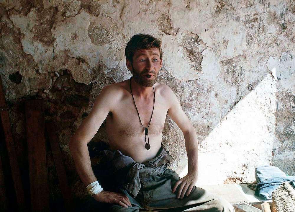 British actor Peter O'Toole seen on the set of the film 'Murphy's War' filmed in Venezuela in 1970.<br /> Photographed by Terry Fincher