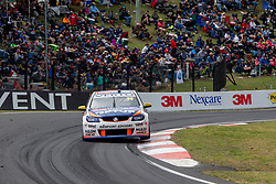 October 8, 2018 - Bathurst, NSW, U.S. - BATHURST, NSW - OCTOBER 07: Todd Hazelwood in the Bigmate Racing Holden Commodore is on three wheels as he crosses the mountain at the Supercheap Auto Bathurst 1000 V8 Supercar Race at Mount Panorama Circuit in Bathurst, Australia on October 07, 2018 (Photo by Speed Media/Icon Sportswire) (Credit Image: © Speed Media/Icon SMI via ZUMA Press)