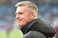 Aston Villa manager Dean Smith  looks frustrated watching the action during the The FA Cup 3rd round match between Aston Villa and Swansea City at Villa Park, Birmingham, England on 5 January 2019.