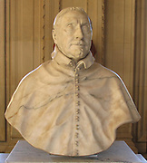 The bust of Antoine Triest, Bishop of Gand/Ghent. Made from marble by Jérôme and François Duquesnoy. Circa 1643.