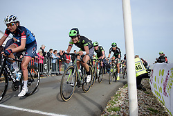 Joëlle Numainville fights to the top of VAMberg at Ronde van Drenthe 2017. A 152 km road race on March 11th 2017, starting and finishing in Hoogeveen, Netherlands. (Photo by Sean Robinson/Velofocus)