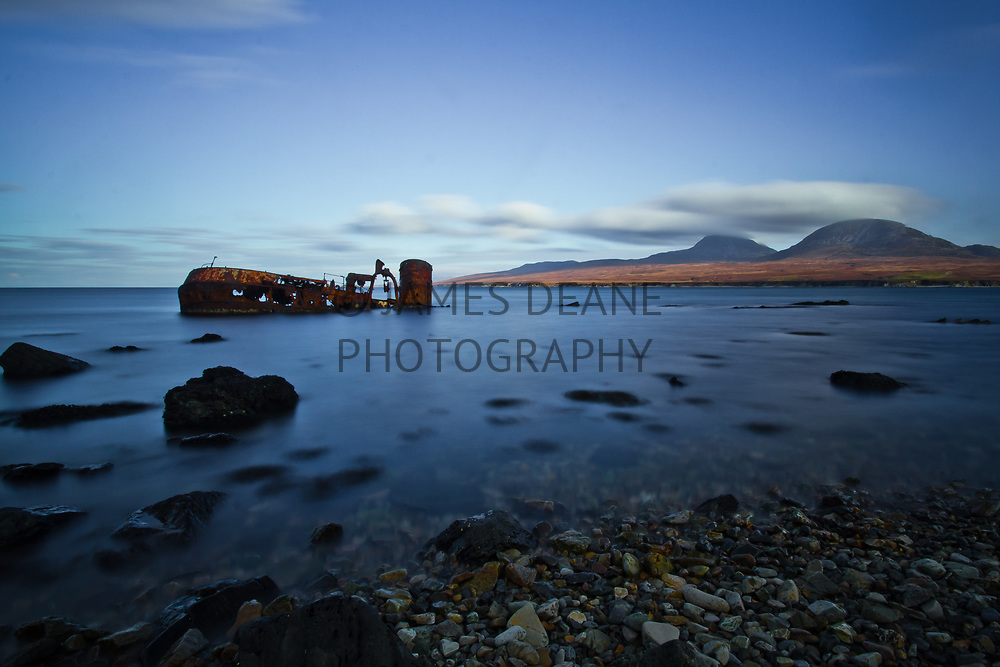 A long exposure showing motion-blur in the waters of the Sound