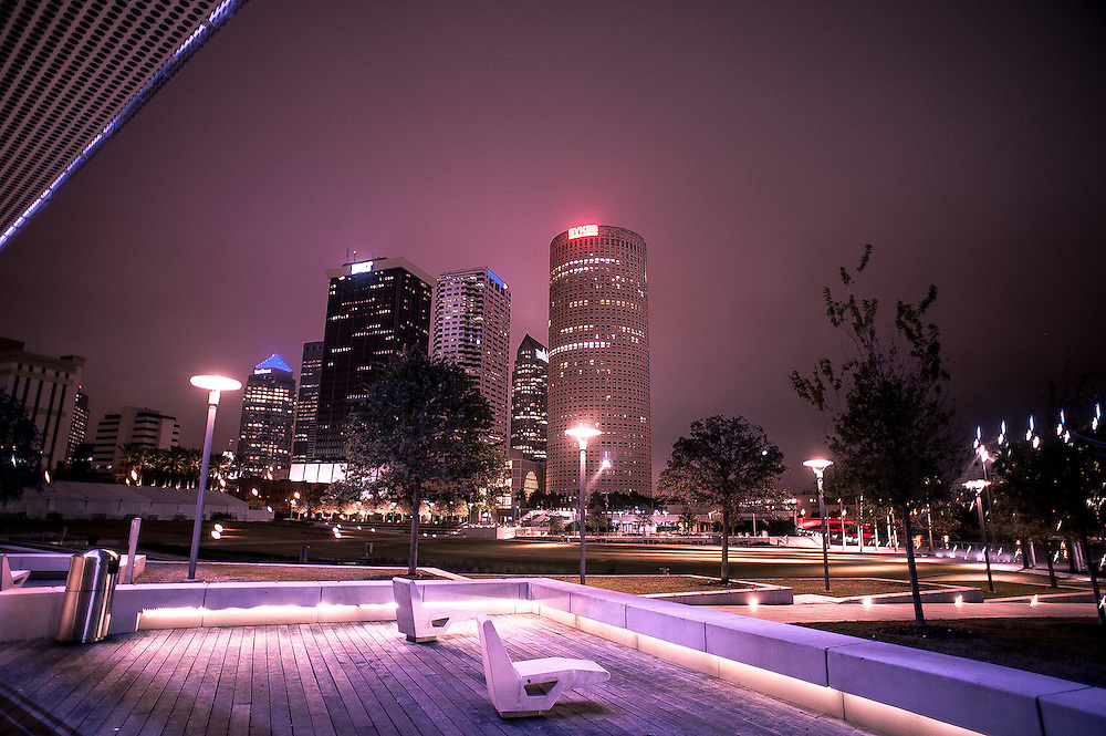 Downtown Tampa, FL as seen from the Museum of Art