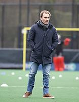 BLOEMENDAAL - Hockey. coach Jeroen Delmee (Tilburg)  Bloemendaal HI-Tilburg HI, oefenwedstrijd.    COPYRIGHT  KOEN SUYK