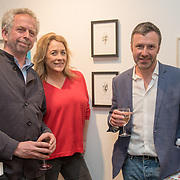 Adrian Jackson ,Sarah Beeny is an TV Presenter and her husband is an artist Graham Swift attend the Art On The Mind - Private view of an exhibition and auction which benefits homeless charity, Cardboard Citizens.