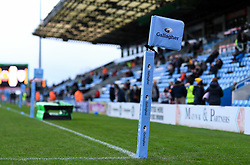 Gallagher branded corner flag prior to kick off  - Mandatory by-line: Ryan Hiscott/JMP - 26/12/2020 - RUGBY - Sandy Park - Exeter, England - Exeter Chiefs v Gloucester Rugby - Gallagher Premiership Rugby