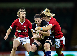 Paula Fitzpatrick of Barbarians is tackled by Kerin Lake of Wales<br /> <br /> Photographer Simon King/Replay Images<br /> <br /> Friendly - Wales v Barbarians - Saturday 30th November 2019 - Principality Stadium - Cardiff<br /> <br /> World Copyright © Replay Images . All rights reserved. info@replayimages.co.uk - http://replayimages.co.uk