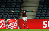 Nanú of Maritimo celebrates his goal during the Portuguese League (Liga NOS) match between FC Porto and Maritimo at Estadio do Dragao, Porto, Portugal on 3 October 2020.