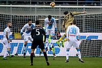 Colpo di testa di Gianluigi Donnarumma Milan Head Shot of Milan Goalkeeper Donnarumma <br /> Milano 21-01-2017 Stadio Giuseppe Meazza - Football Calcio Serie A Milan - Napoli Foto Insidefoto