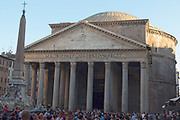 The Pantheon, a former Roman temple, now a church, commissioned by Marcus Agrippa during the reign of Augustus