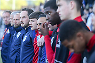 England Coaches during the UEFA European Under 17 Championship 2018 match between England and Israel at Proact Stadium, Whittington Moor, United Kingdom on 4 May 2018. Picture by Mick Haynes.