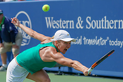August 19, 2018 - Mason, Ohio, USA - Simona Halep (ROU) in action during Sunday's final round of the Western and Southern Open at the Lindner Family Tennis Center, Mason, Oh. (Credit Image: © Scott Stuart via ZUMA Wire)