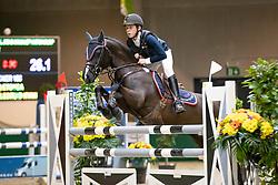 De Plecker Vic, BEL, Waaie Q Etoyca<br /> Nationaal Indoor Kampioenschap Pony's LRV <br /> Oud Heverlee 2019<br /> © Hippo Foto - Dirk Caremans<br /> 09/03/2019